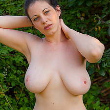 Busty Bex strips