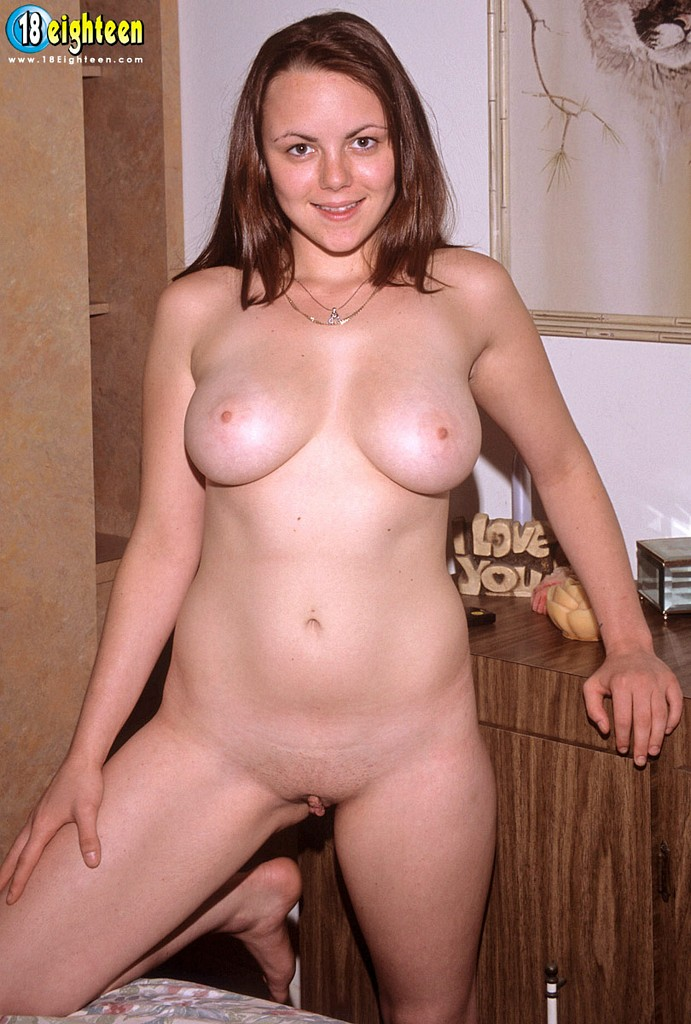 Young busty natural babe showing her body 7
