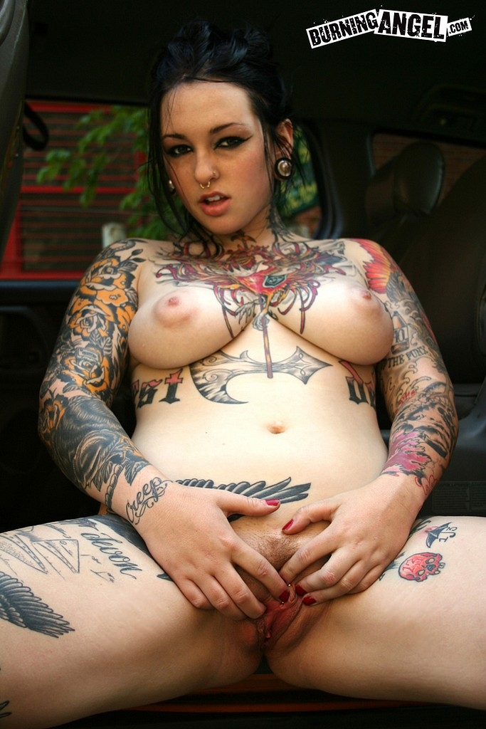 image Amazing pierced and tattoed babe solarium voyeur