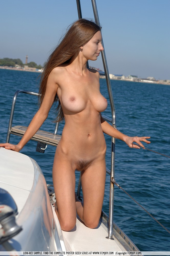 Excellent idea naked babe in boat