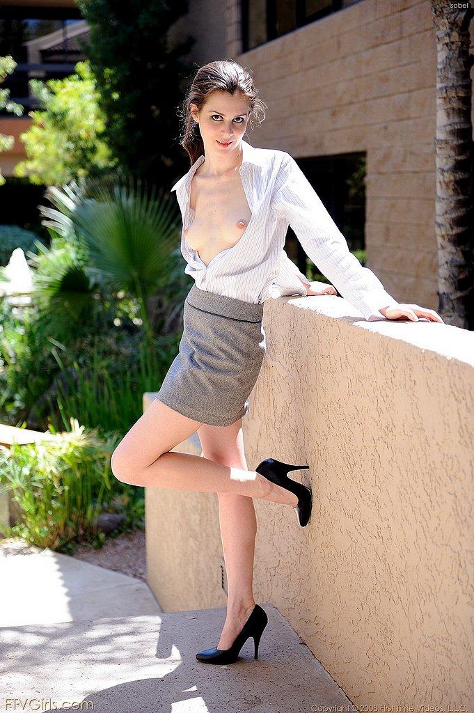 Classy Isobel doesn't wear underwear | Nextdoor Mania