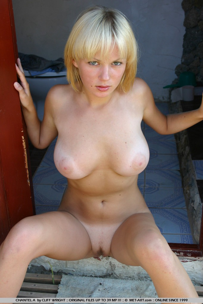Art blonde busty met that