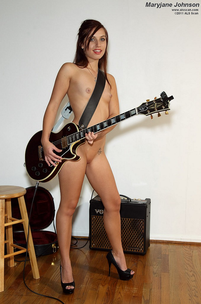 naked chick with large package
