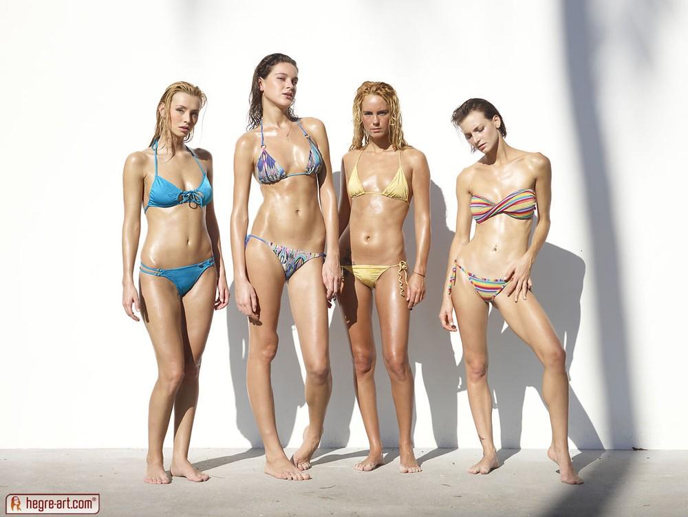 Amazing bikini babe strips part 2 at 7