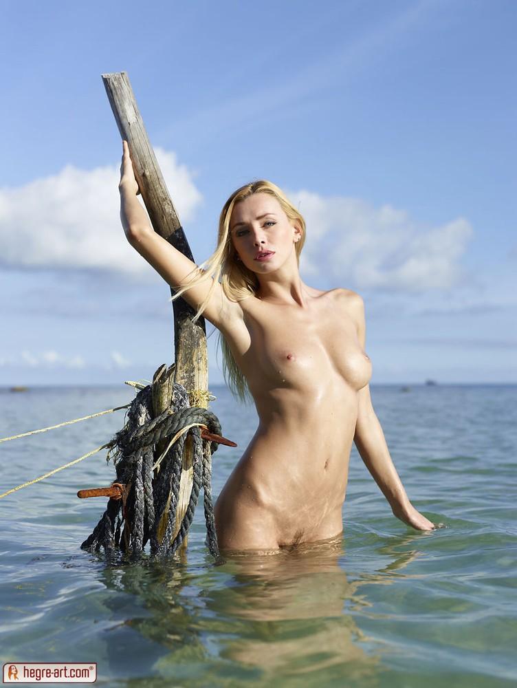 Sexy slim walks naked in public 7