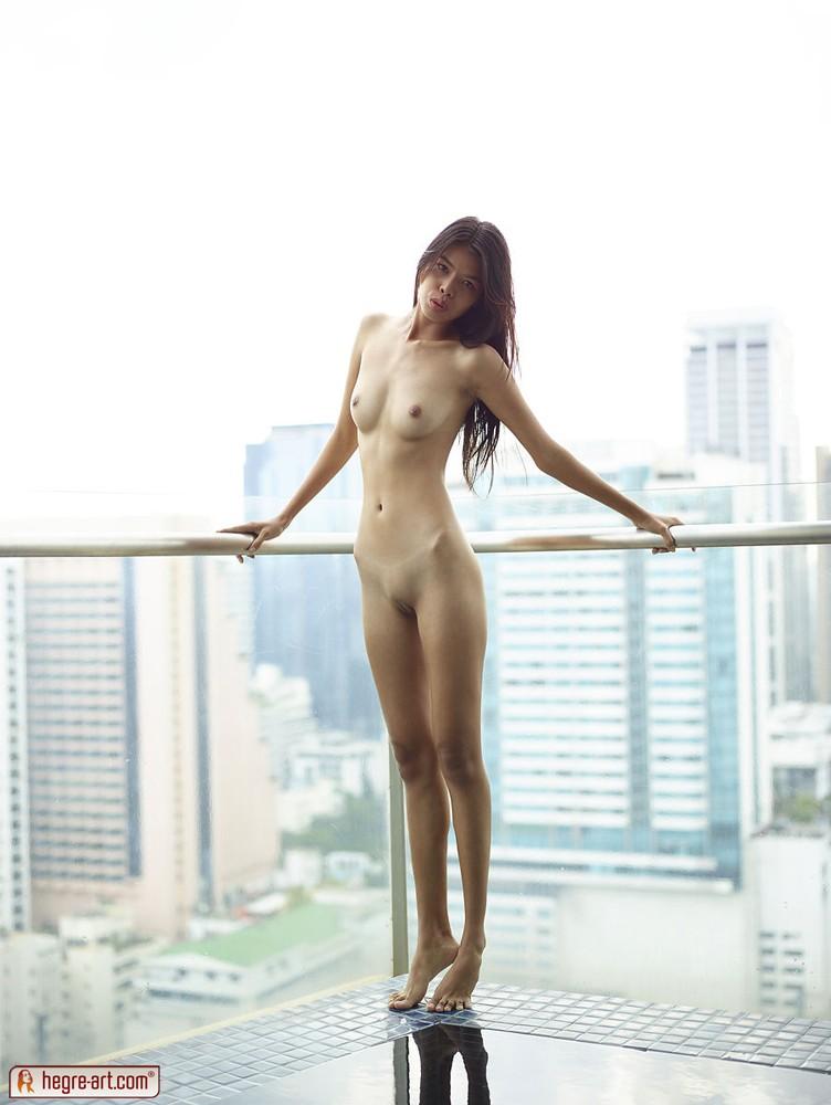 Petite nude Asian babe Noody enjoys the view of the city | Nextdoor ...