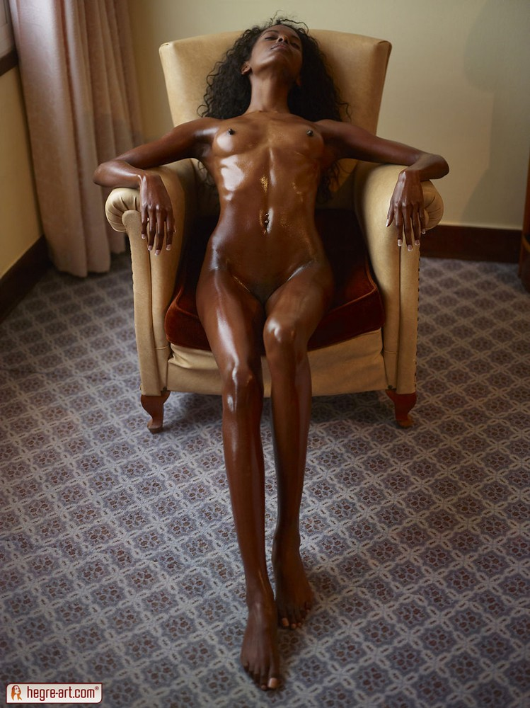 All oiled up ebony 2 1