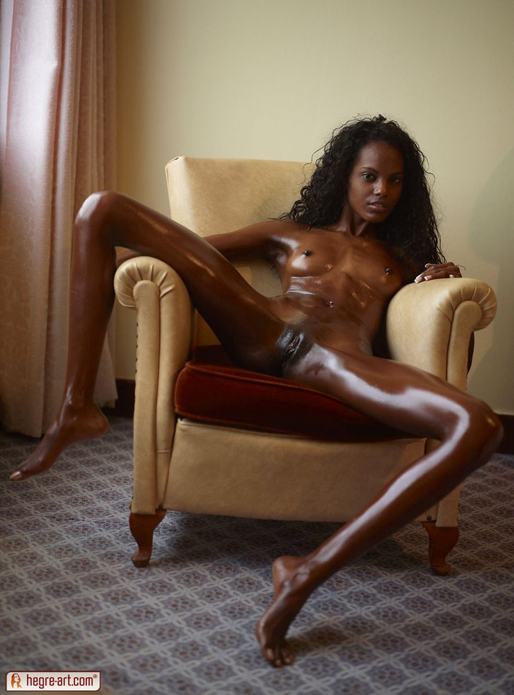 Oiled up black girl nude you has