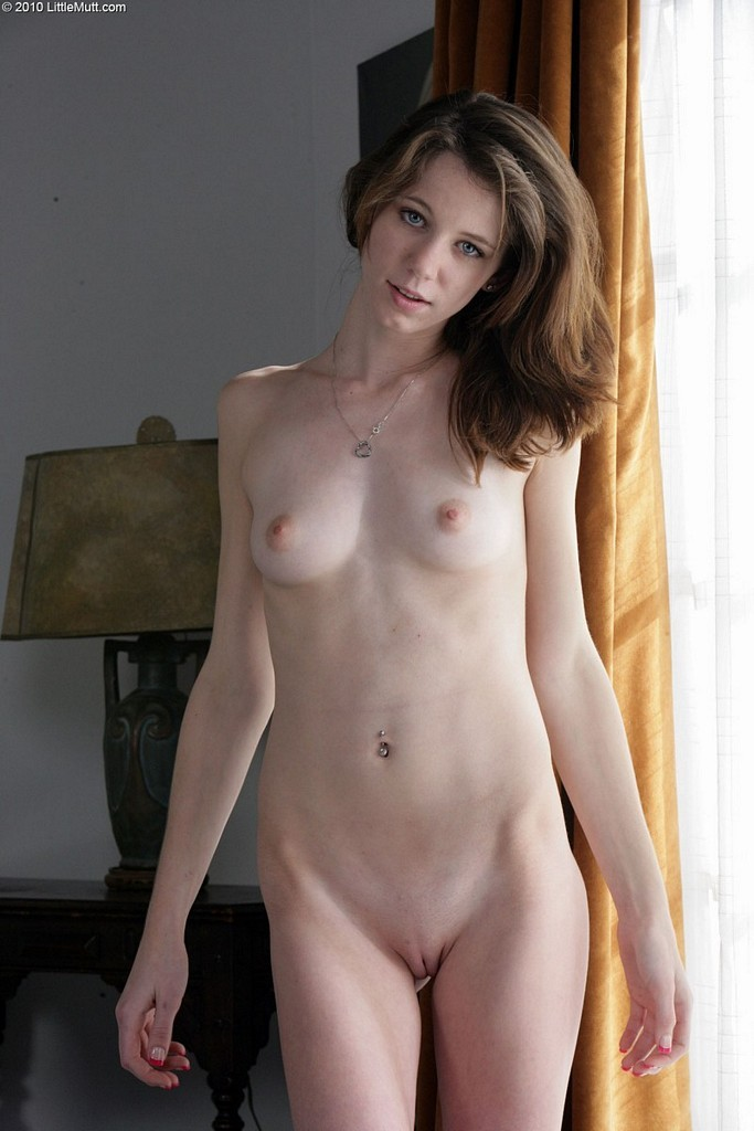 nude pale thin girl