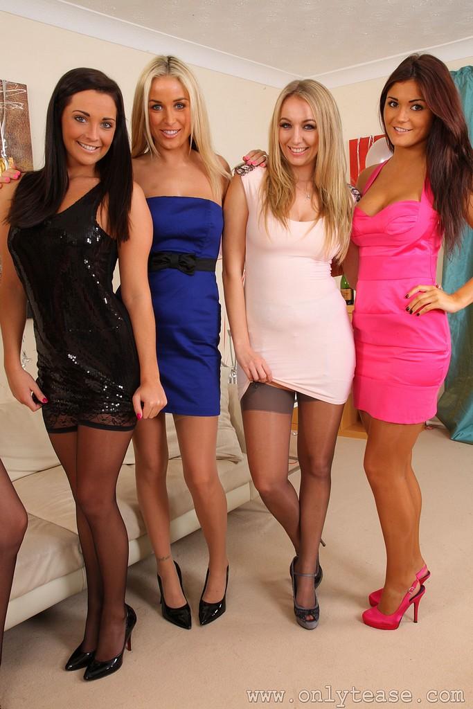 English girls in stockings