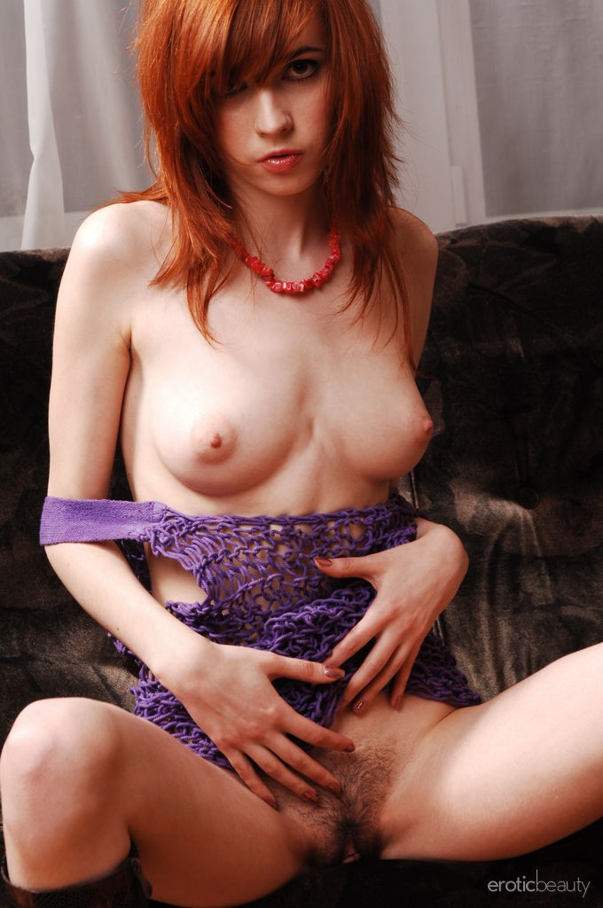 Sexy redhead in purple stockings 205smyt - 3 part 5