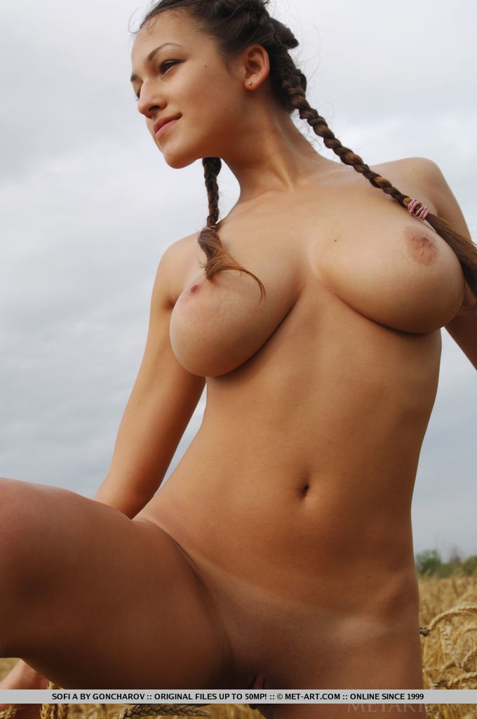 Pity, that pigtails big tit girl