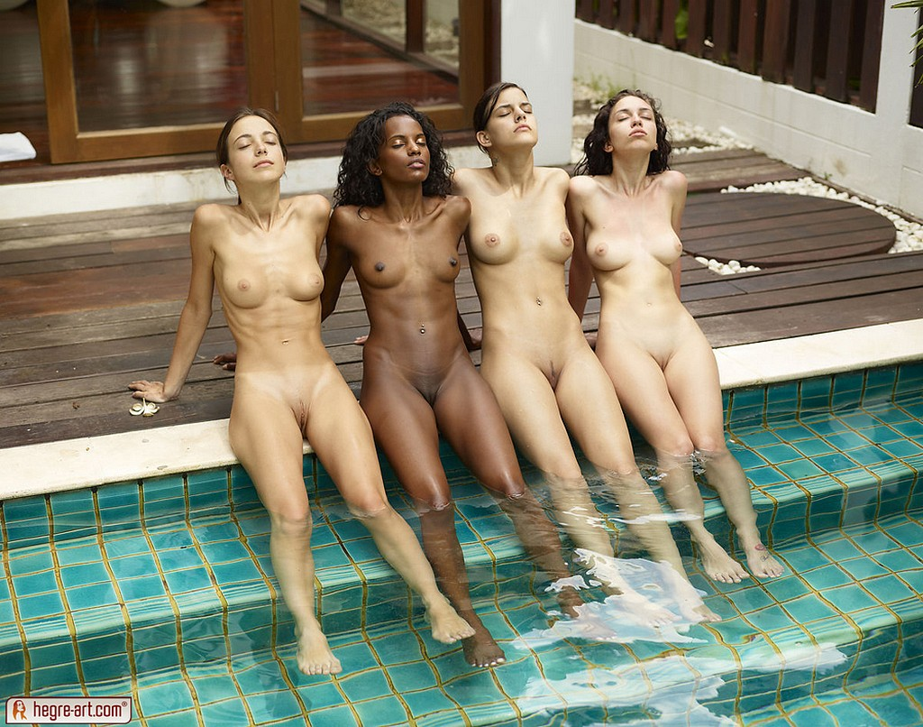 nude girls at pool party