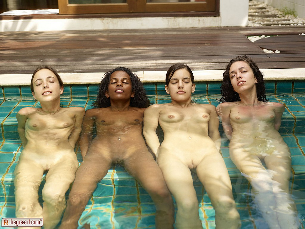 nudist pool parties